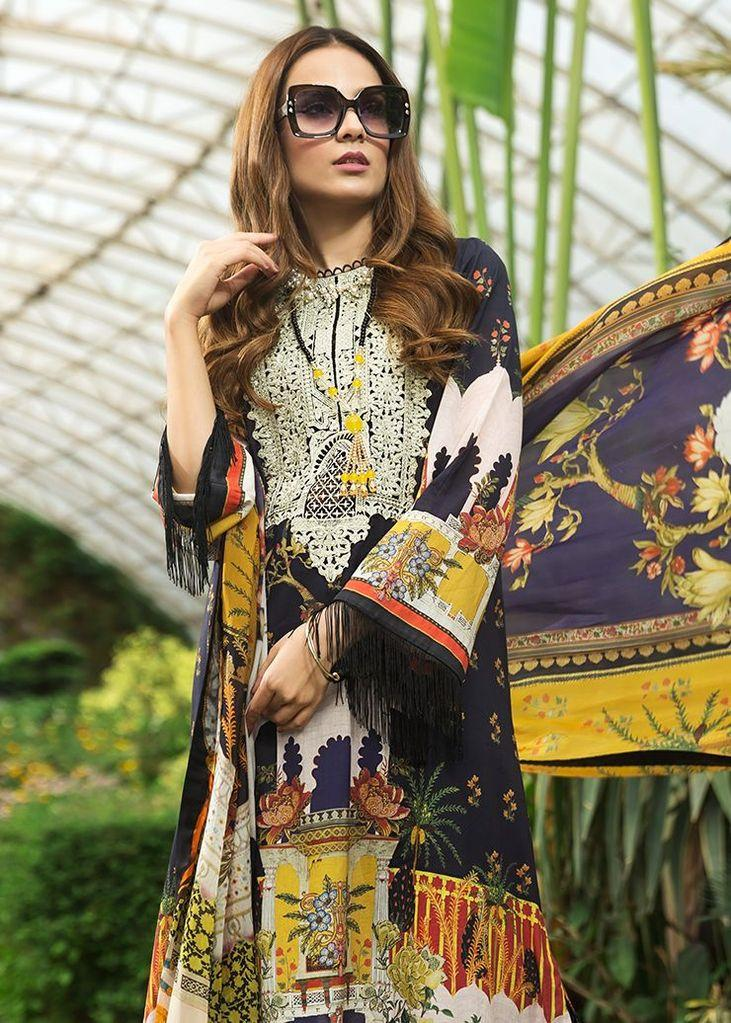 Afrozeh Sienna Lawn 2020 Night Glory