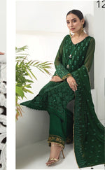 Alizeh Luxury 2020 suit Arcadia Grace - Embroidered Chiffon Shirt, Grip Bottom and embroidered chiffon dupatta