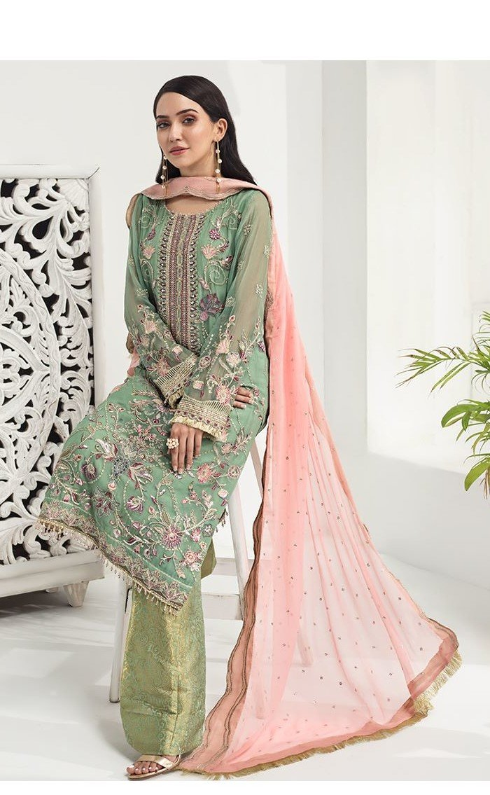 Alizeh Luxury Chiffon 2020 suit 01 by Bilal's