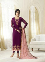 Amirah Vol 2 Georgette Purple suit 9023