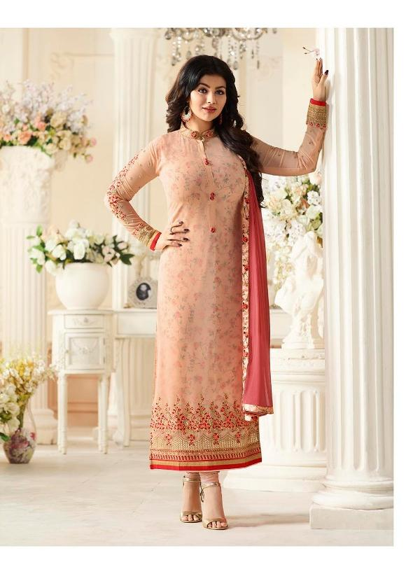 Amirah Vol 3 Georgette Peach suit 9035