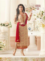 Amirah Vol 3 Georgette Peachy Yellow suit 9038