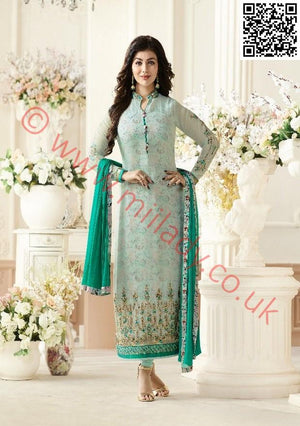 Amirah Vol 3 salwar kameez design 9034 - Embroidered shirt with shantoon bottom