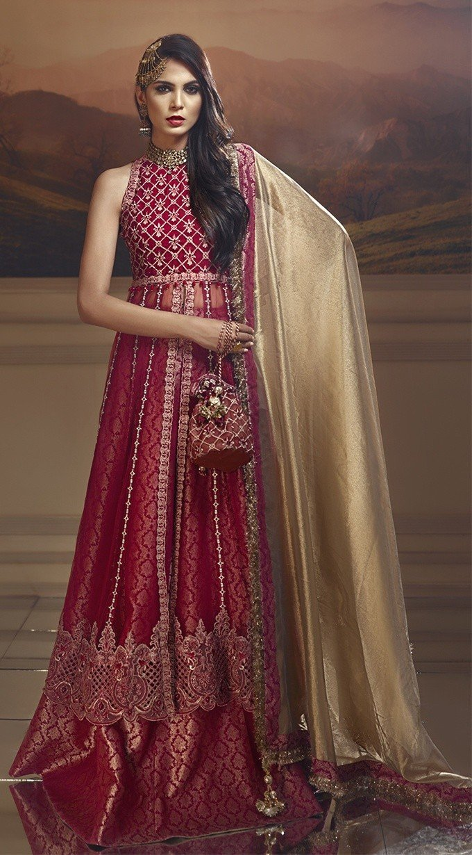 Anaya Wedding Edition 2018 suit Scarlet Blush