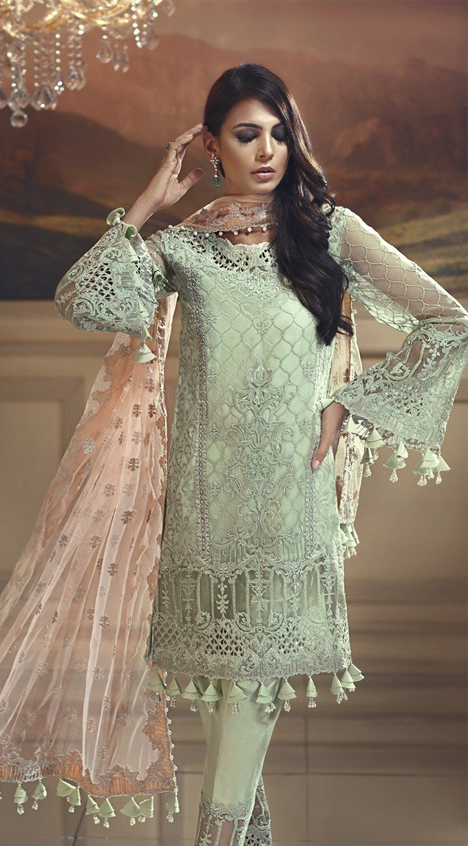 Anaya Wedding Edition suit Mint Melba by Kiran Chaudry