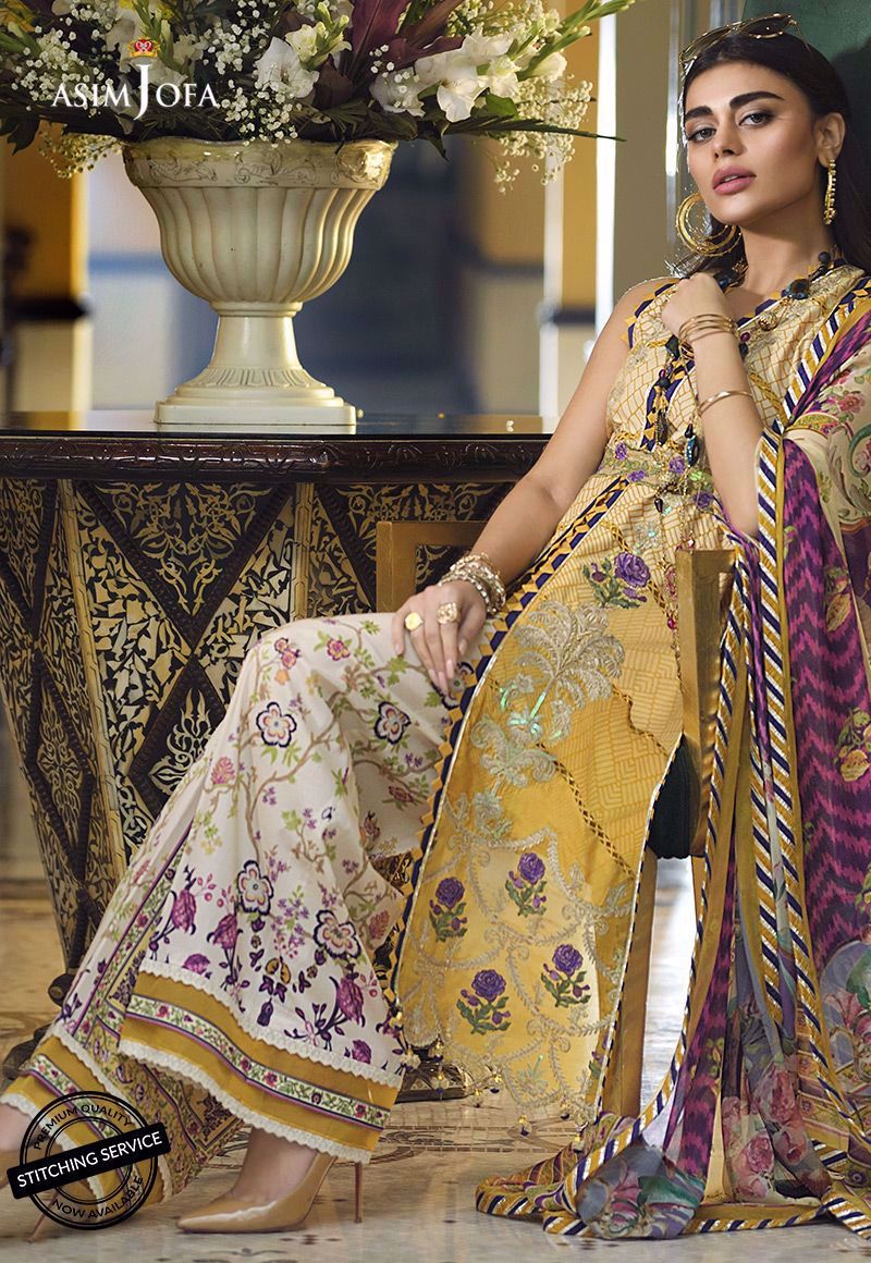 Asim Jofa Luxury Lawn Collection 2020 suit AJL-2A