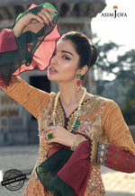 Asim Jofa Luxury Lawn 2020 suit AJL-6A - Embroidered hand worked lawn bodice with silk dupatta