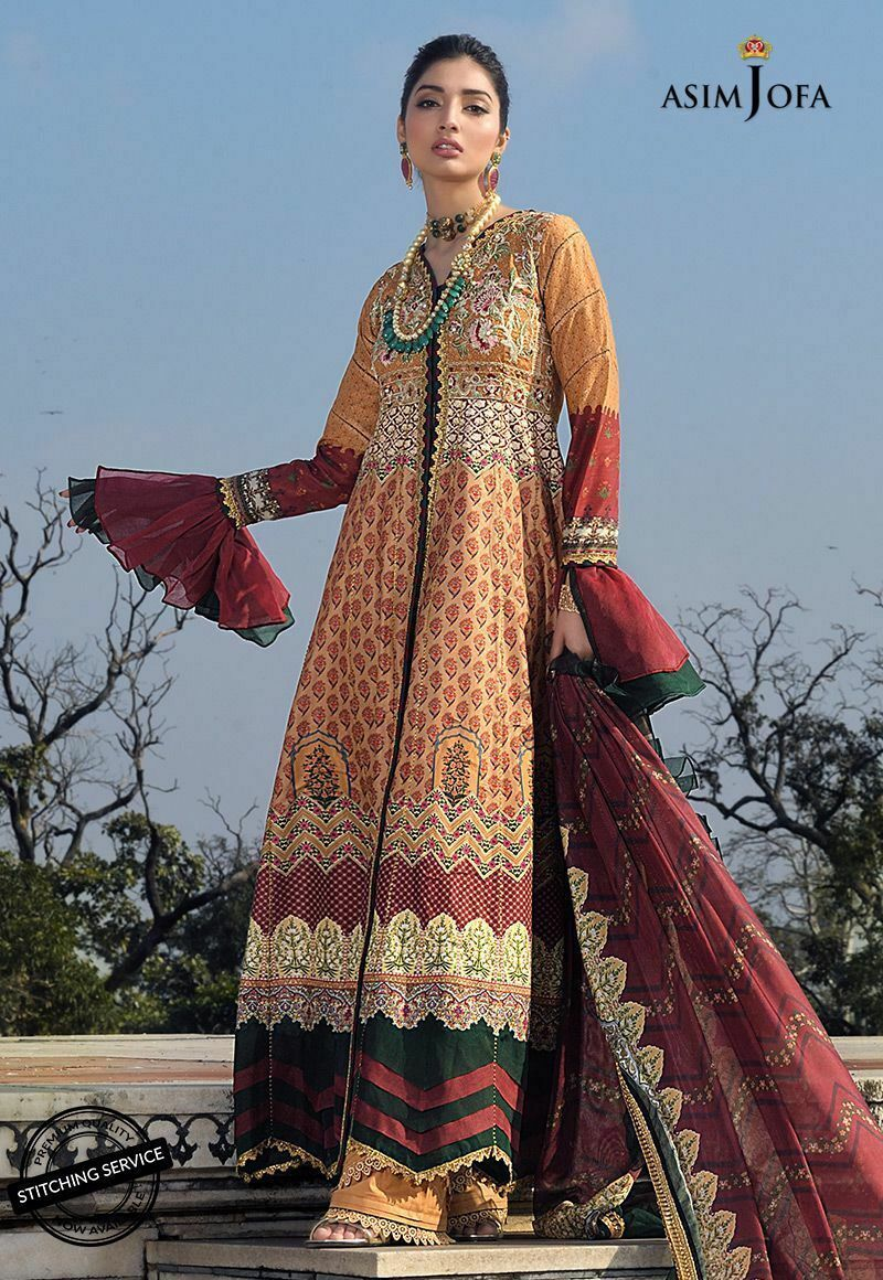 Asim Jofa Luxury Lawn Collection 2020 suit AJL-6A