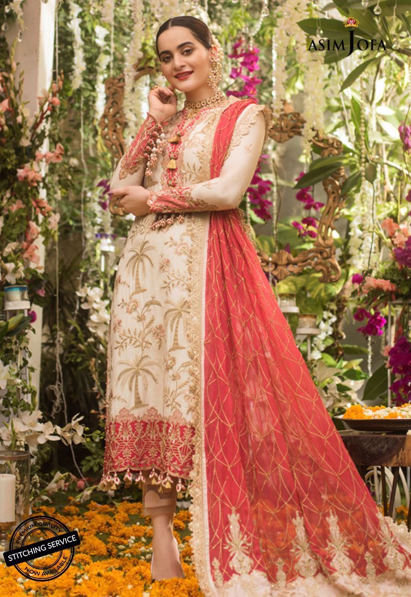 Asim Jofa Naubahar Chiffon Collection 2020 suit AJN-09