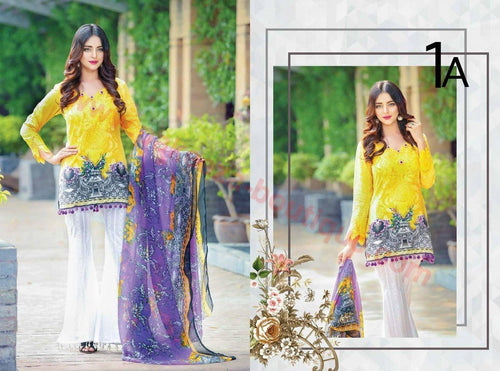 Ayesha Zohaib Mid Summer suit D#01A