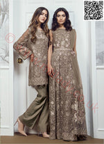 Baroque Chantelle suit Chantilli Glow - Mehndi Colour Straight Salwar Kameez with Net Dupatta
