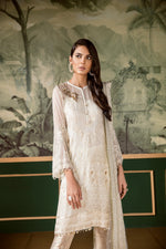 Baroque Classic White Luxury suit Regency White - Embroidered Kameez with Jamawar Trouser