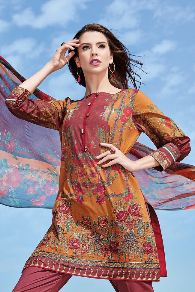 Baroque Isabella lawn 2018 suit Avrill