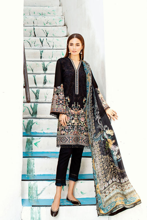 Baroque Swiss Voile Lawn suit Coal 2019