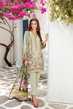 Baroque Swiss Voile Lawn 2019 suit Olive