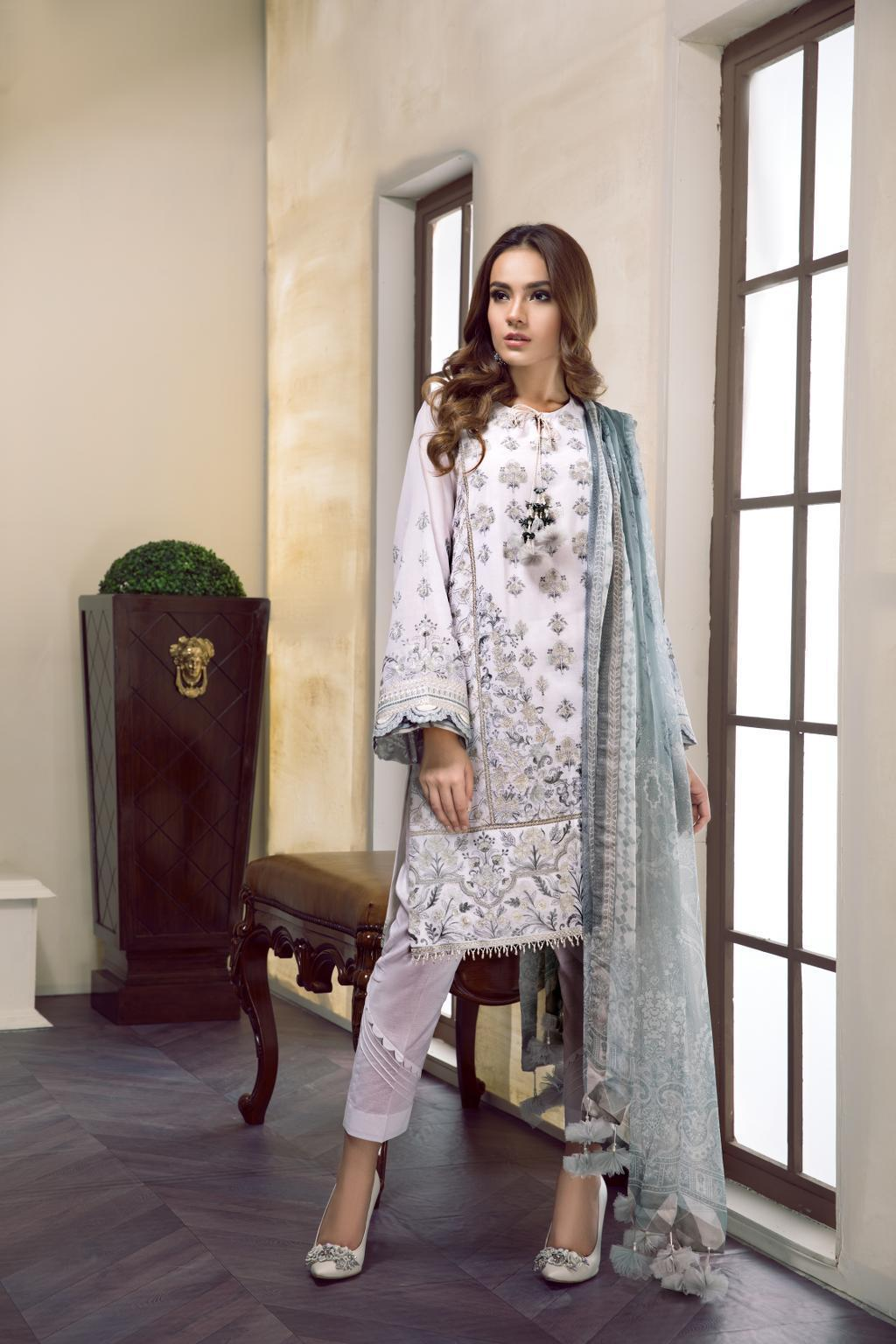 Baroque Swiss Voile Vol-2 2019 suit BRIELLA- Unstitched Salwar Kameez