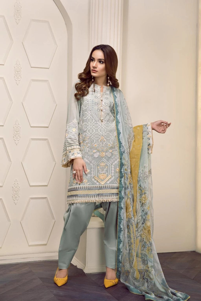 Baroque Swiss Voile Vol-2 2019 suit EVERLY - Unstitched Salwar Kameez