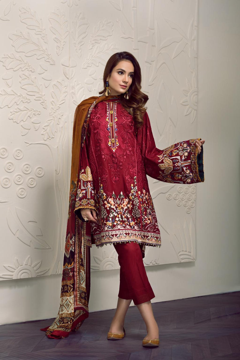 Baroque Swiss Voile Vol-2 2019 suit PEYTON - Unstitched Salwar Kameez