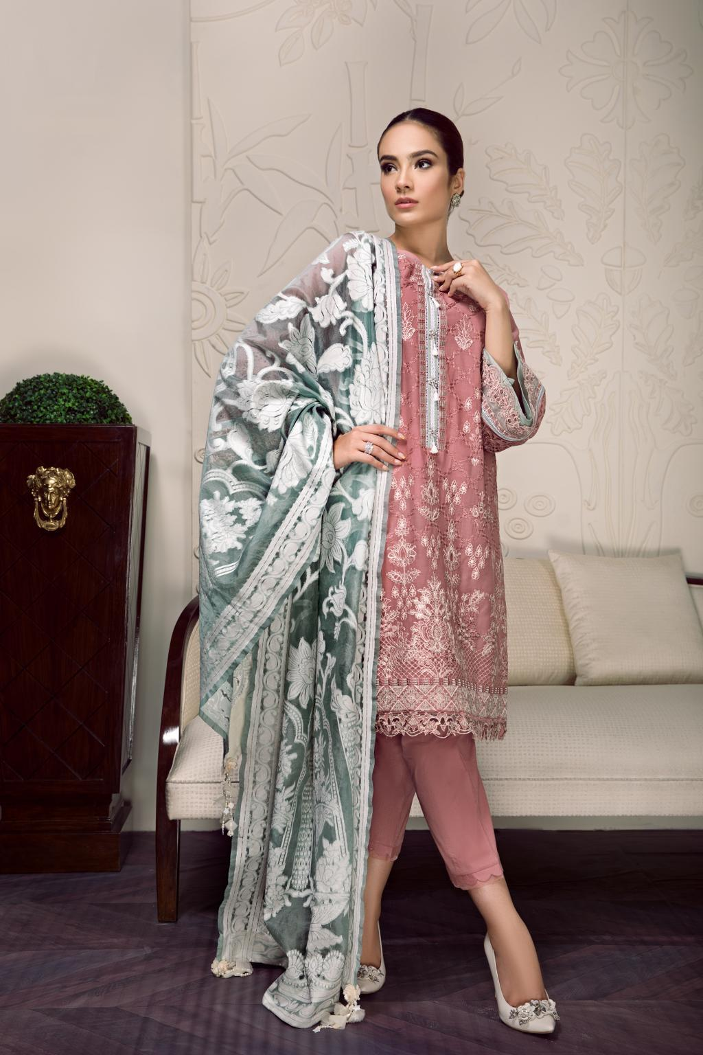 Baroque Swiss Voile Vol-2 2019 suit ZOEY- Unstitched Salwar Kameez