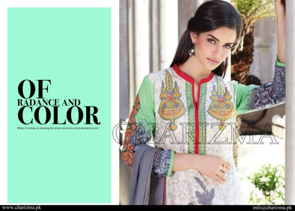 Charizma Eid/Festive Collection suit ED-12 - Embroidered Swiss Voile Shirt and Printed Chiffon dupatta