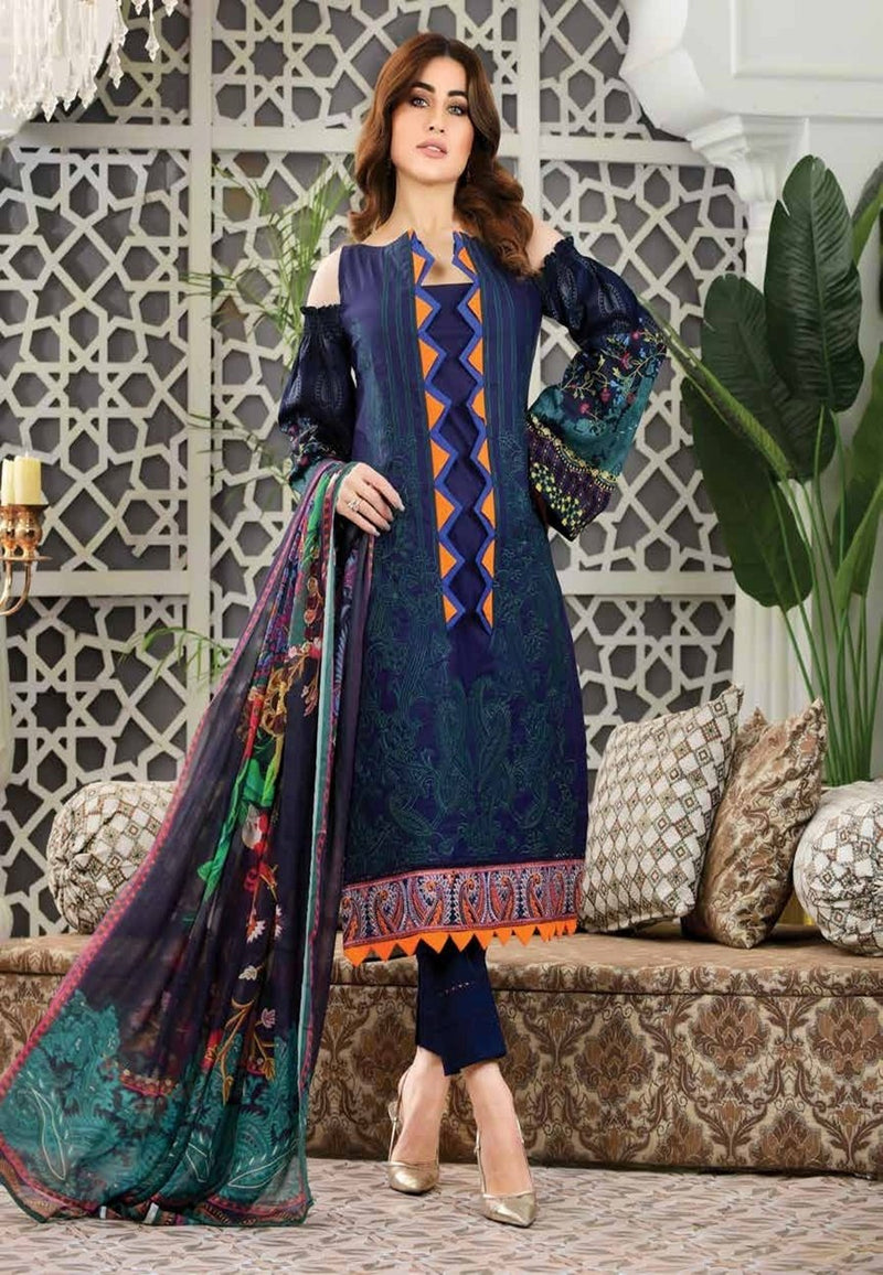 Eshaeman Luxury lawn Vol-1 2020 suit EE-103 - Unstitched Salwar kameez