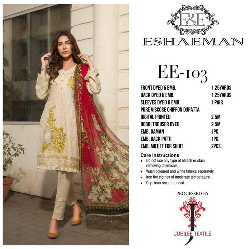 Eshaeman Lawn Vol 1 2019 suit EE-103