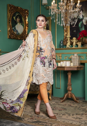 Esha Eman Luxury Lawn Vol-2 2019 suit EE-116 - Unstitched Salwar kameez