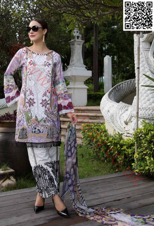 EshAisha Eid 2018 Embroidered vol-2 Lawn suit D#14