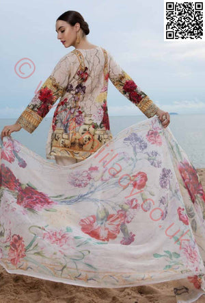 EshAisha Eid 2018 Embroidered Lawn suit D-19