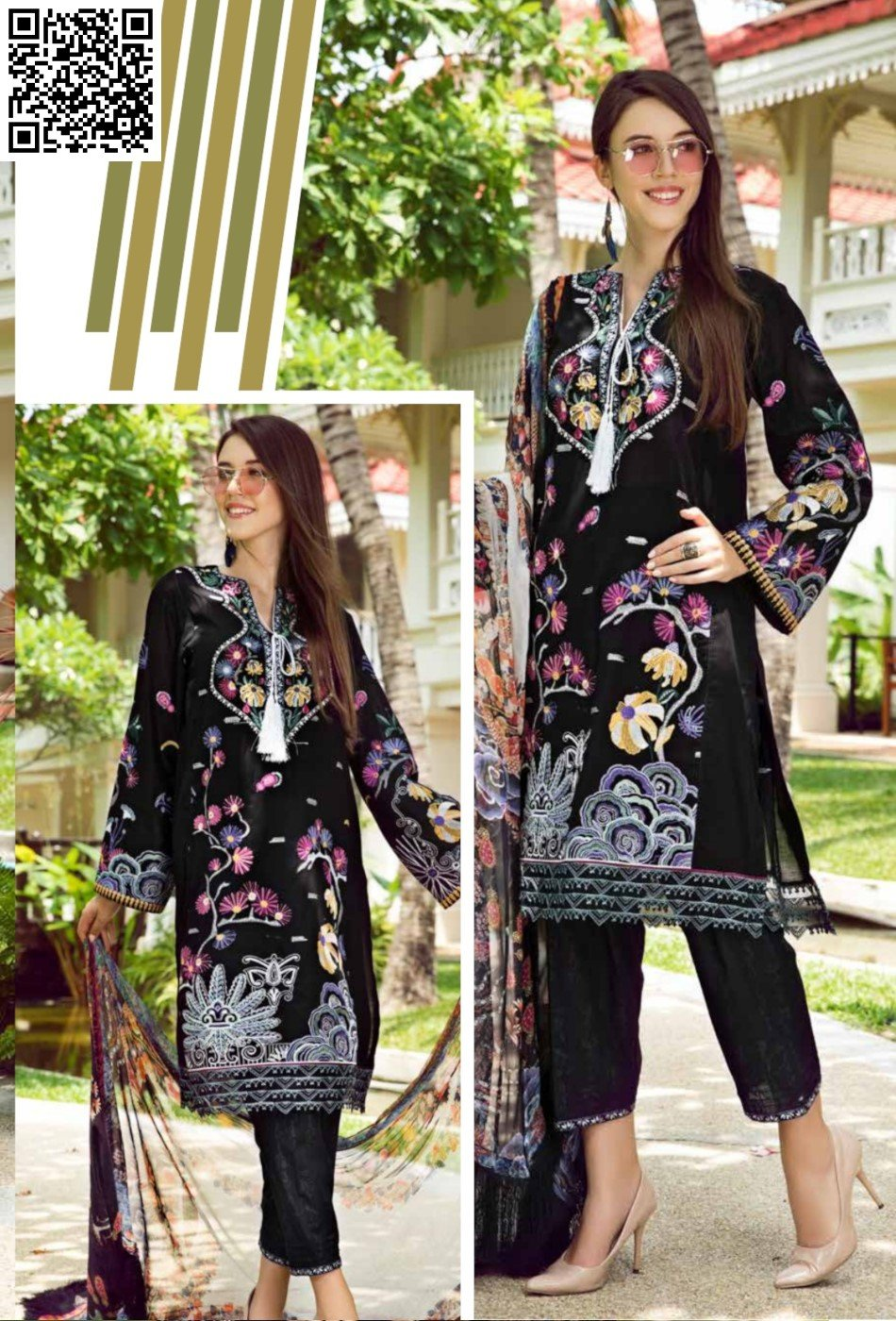 EshAisha Eid Luxury Lawn 2019 Suit EA-524