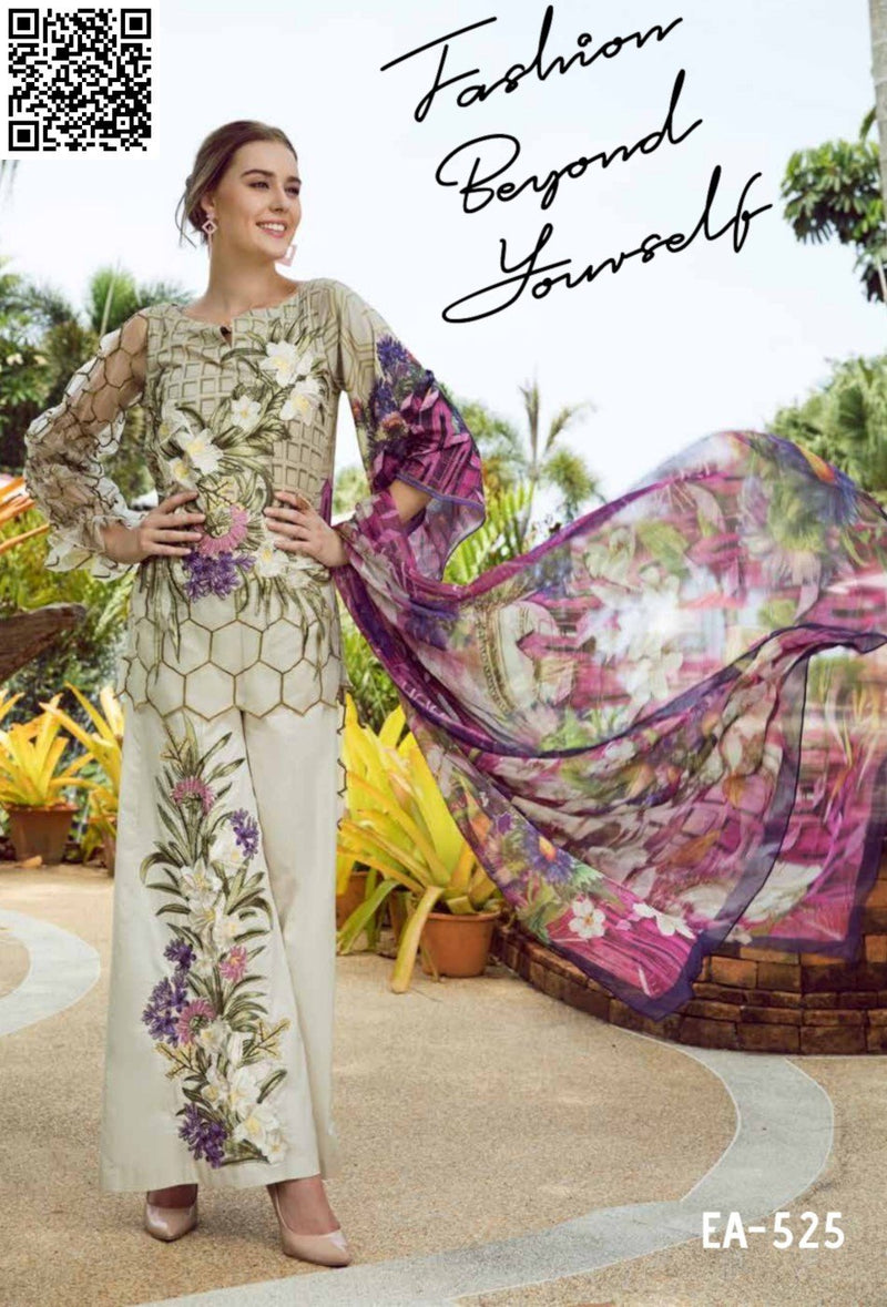 EshAisha Eid Luxury Lawn 2019 Suit EA-525