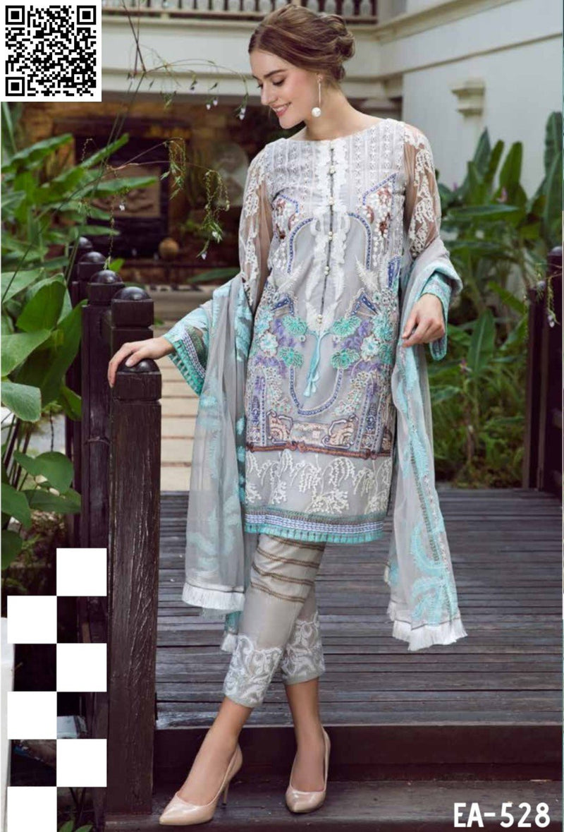 EshAisha Eid Luxury Lawn 2019 Suit EA-528