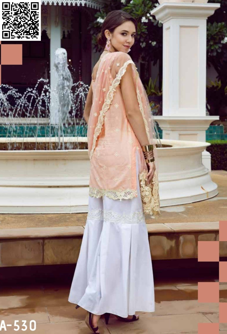 Eshaisha Eid Embroidered Collection 2019 suit EA-530