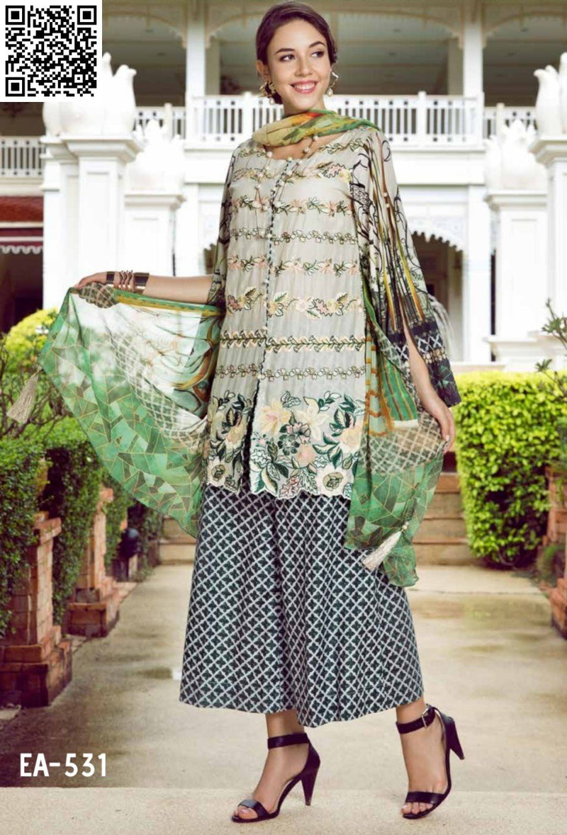 EshAisha Eid Luxury Lawn 2019 Suit EA-531
