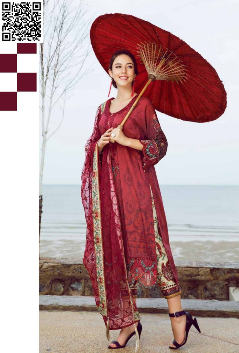 EshAisha Eid Luxury Lawn 2019 Suit EA-533