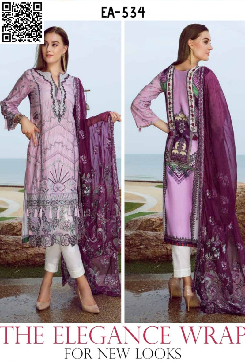 EshAisha Eid Luxury Lawn 2019 Suit EA-534