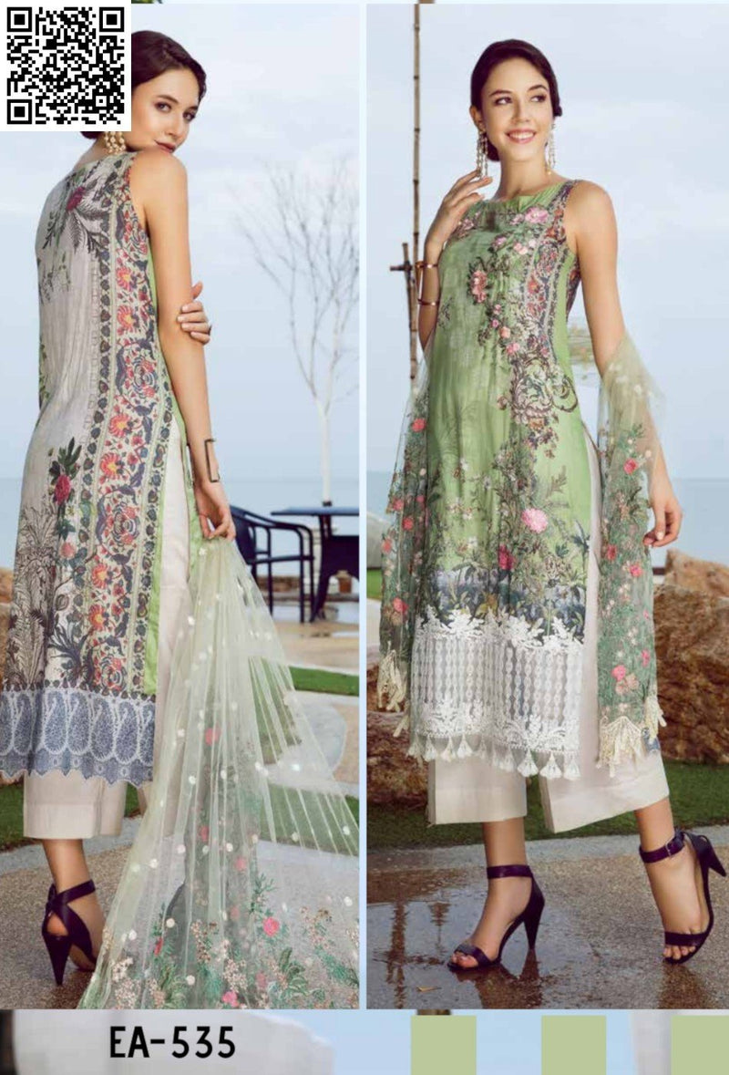 EshAisha Eid Luxury Lawn 2019 Suit EA-535