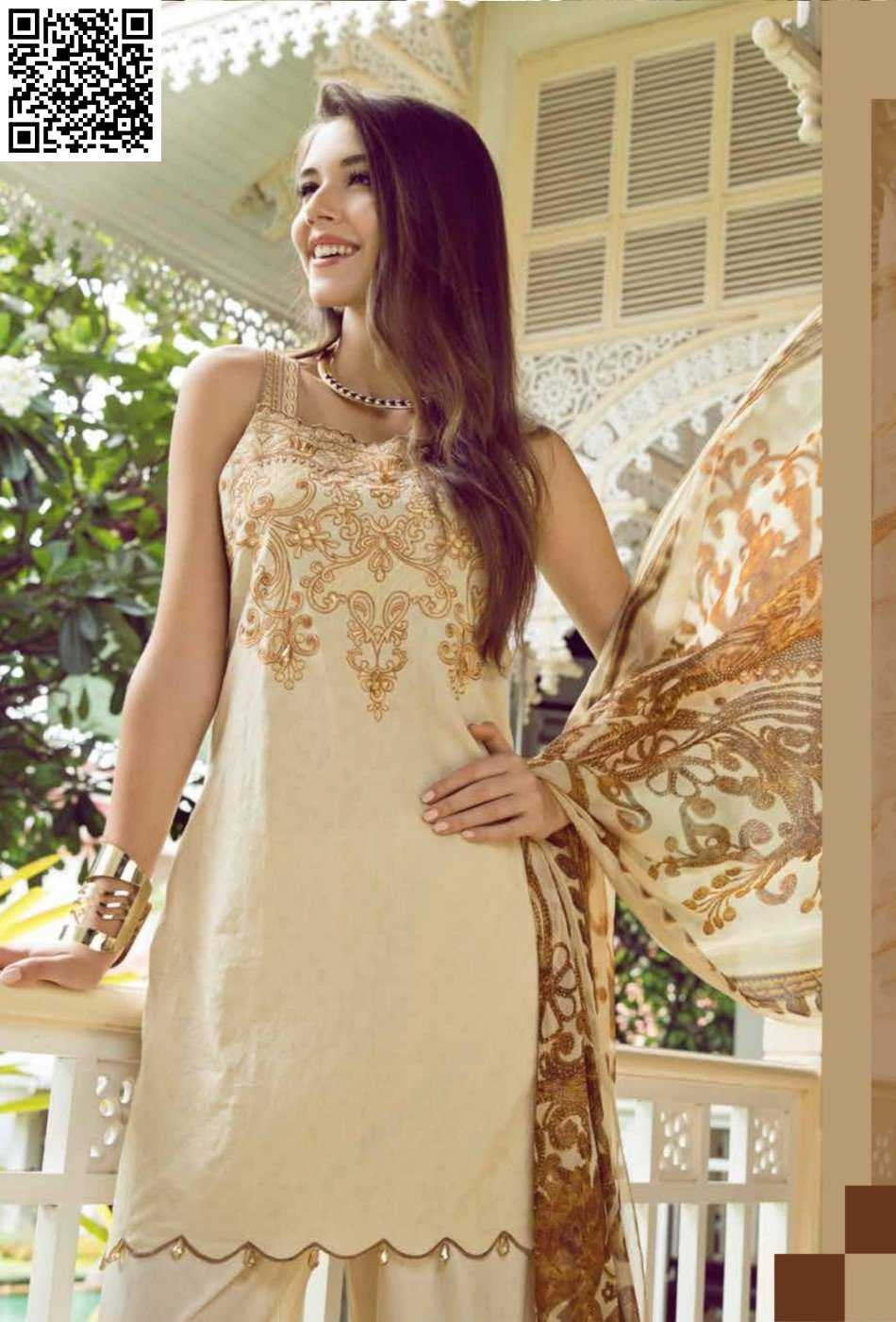 Eshaisha Eid 2019 Embroidered suit EA-536