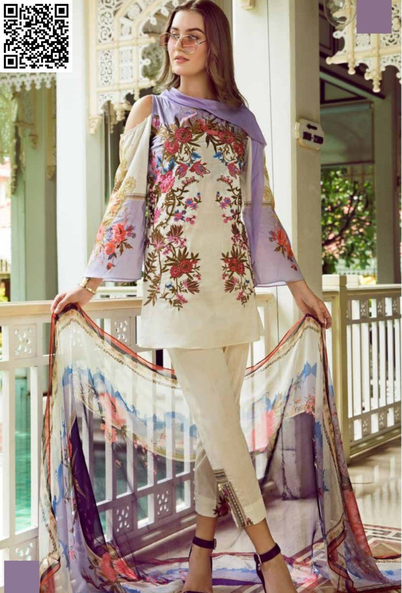 EshAisha Eid Luxury Lawn 2019 Suit EA-537