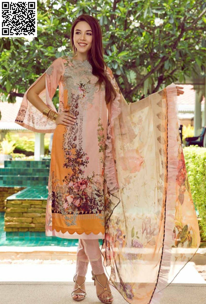 EshAisha Eid Luxury Lawn 2019 Suit EA-538