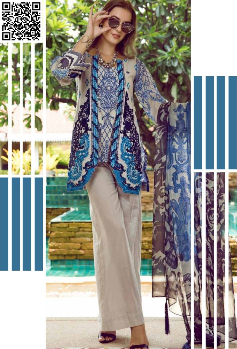 EshAisha Eid Luxury Lawn 2019 Suit EA-539