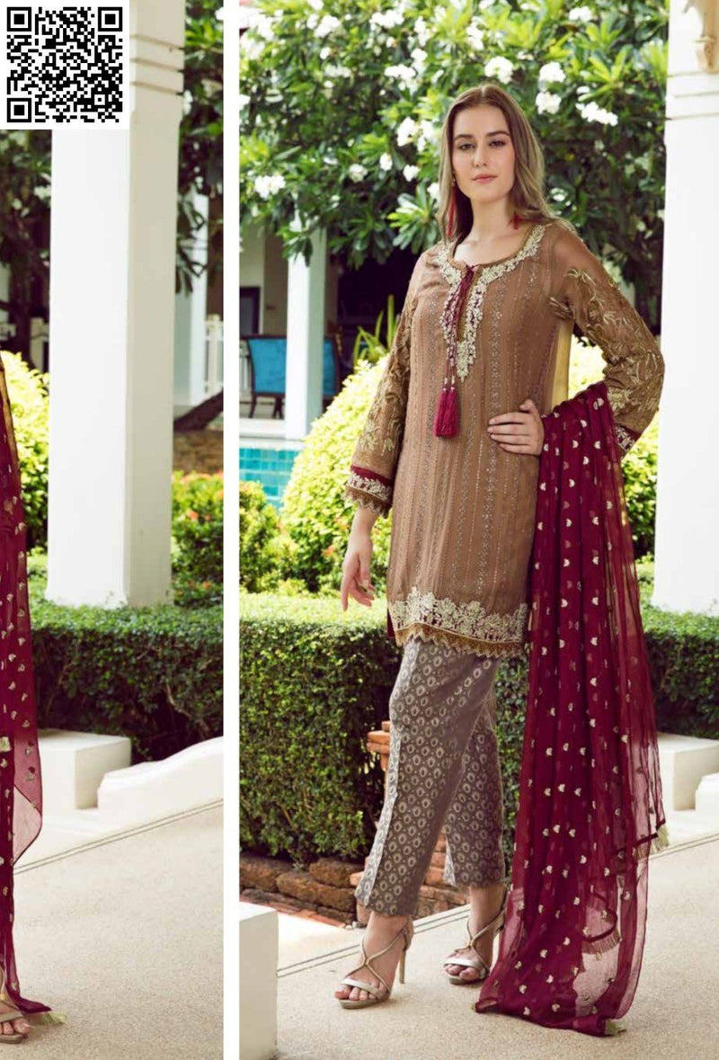EshAisha Eid Luxury Lawn 2019 Suit EA-541