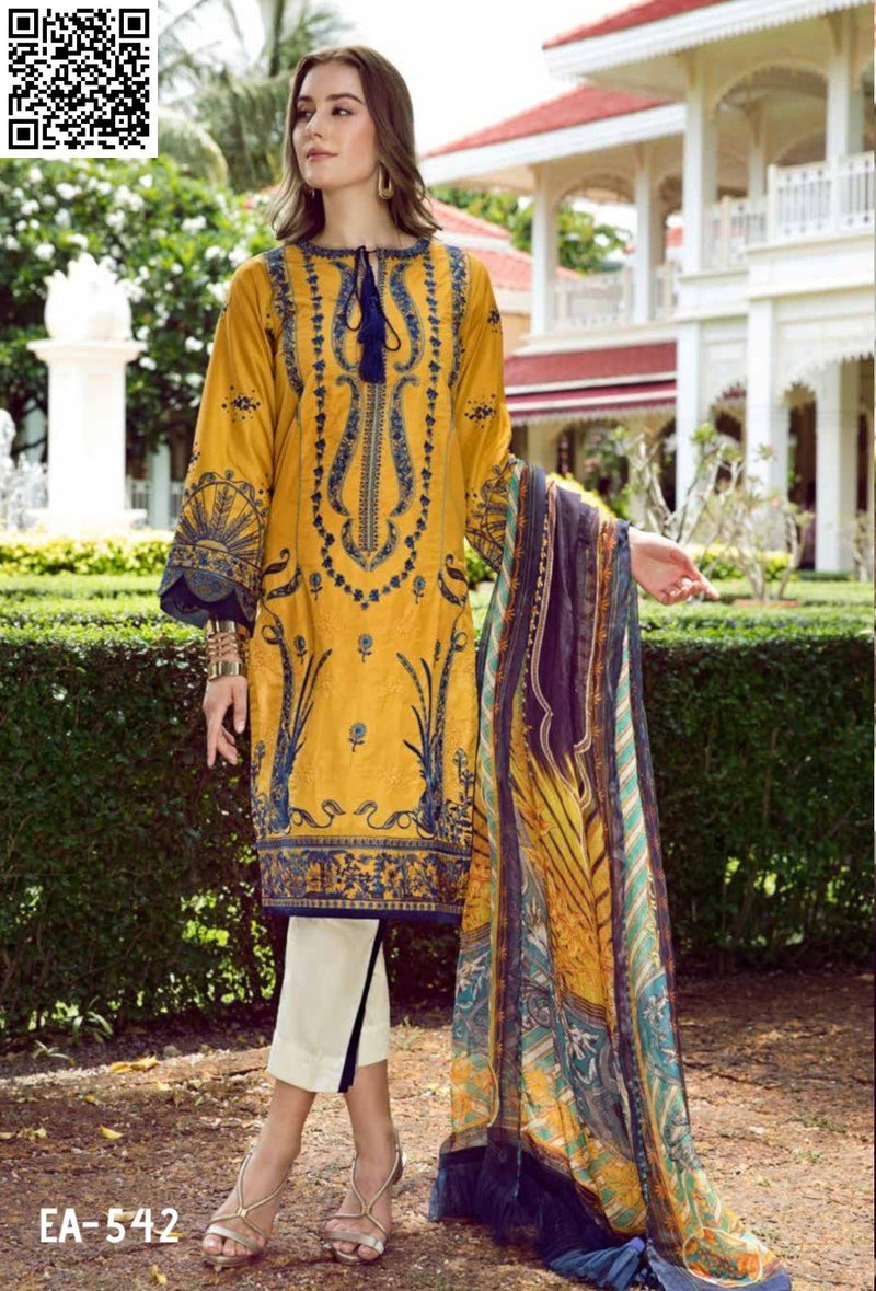 EshAisha Eid Luxury Lawn 2019 Suit EA-542