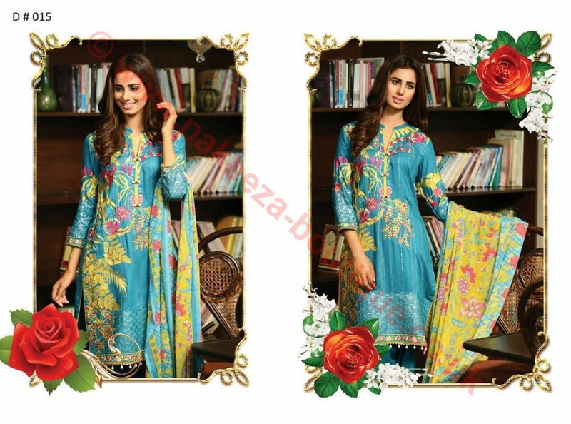 EshAisha Linen Collection 2016 suit D#015