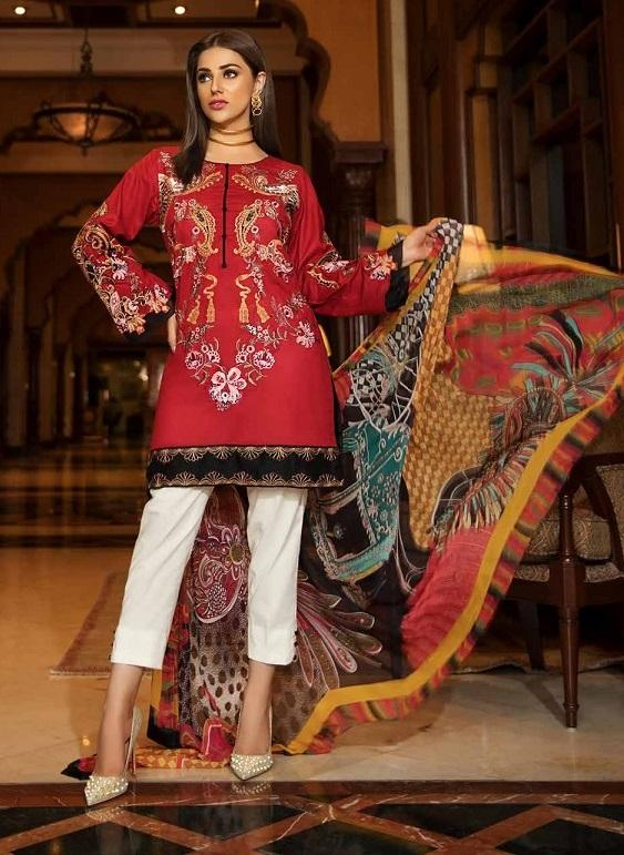Eshaisha Luxury Embroidered Eid 2019 suit EA-511 - Red Lawn Salwar Kameez