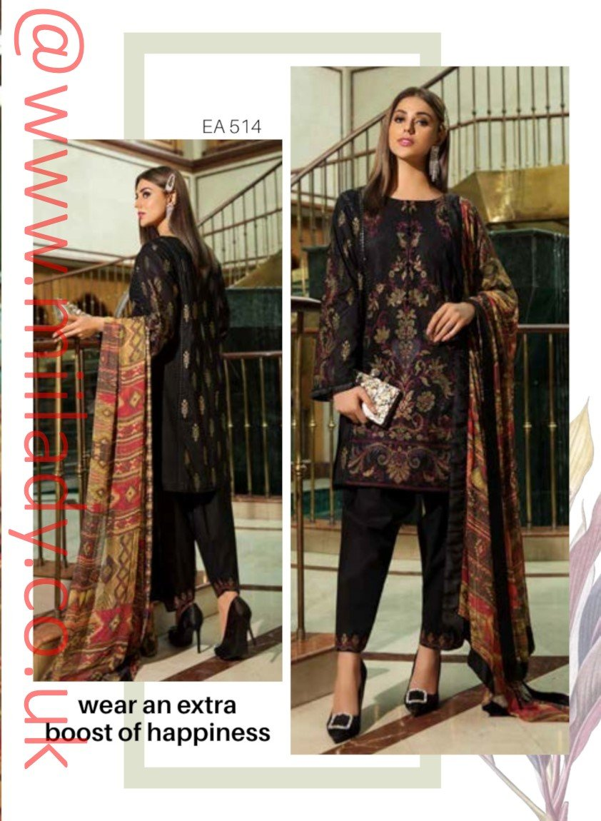 Eshaisha Luxury Embroidered Eid 2019 suit EA-514 - Lawn Salwar Kameez