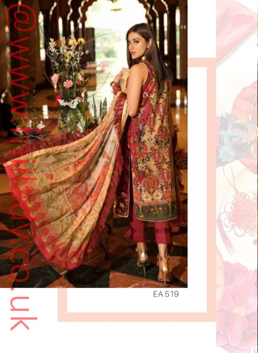 Eshaisha Luxury Lawn Eid 2019 suit EA-519