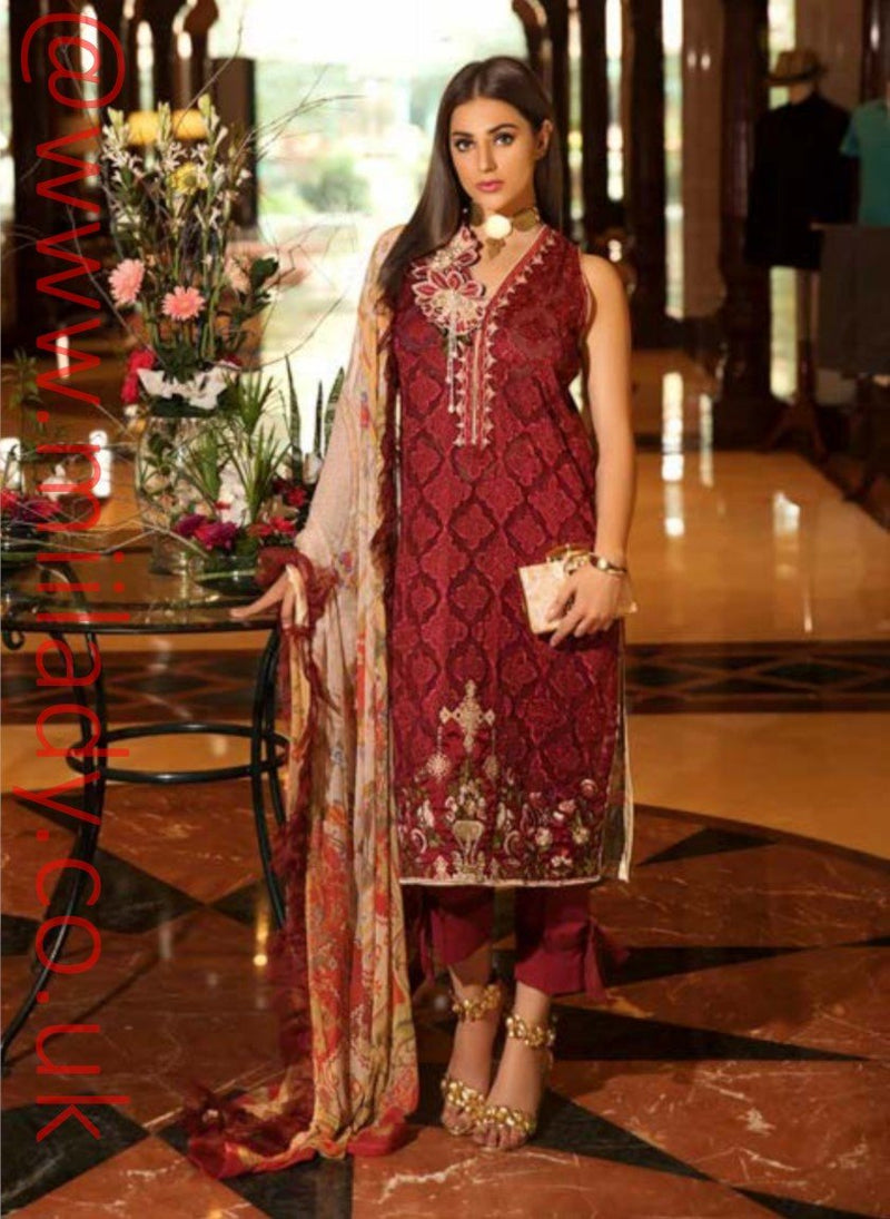 Eshaisha Luxury Embroidered Eid 2019 suit EA-519 - Lawn Salwar Kameez