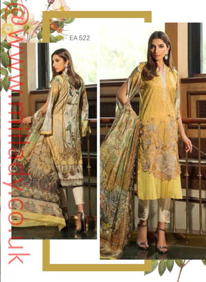 Eshaisha Luxury Lawn Embroidered Eid 2019 suit EA-522