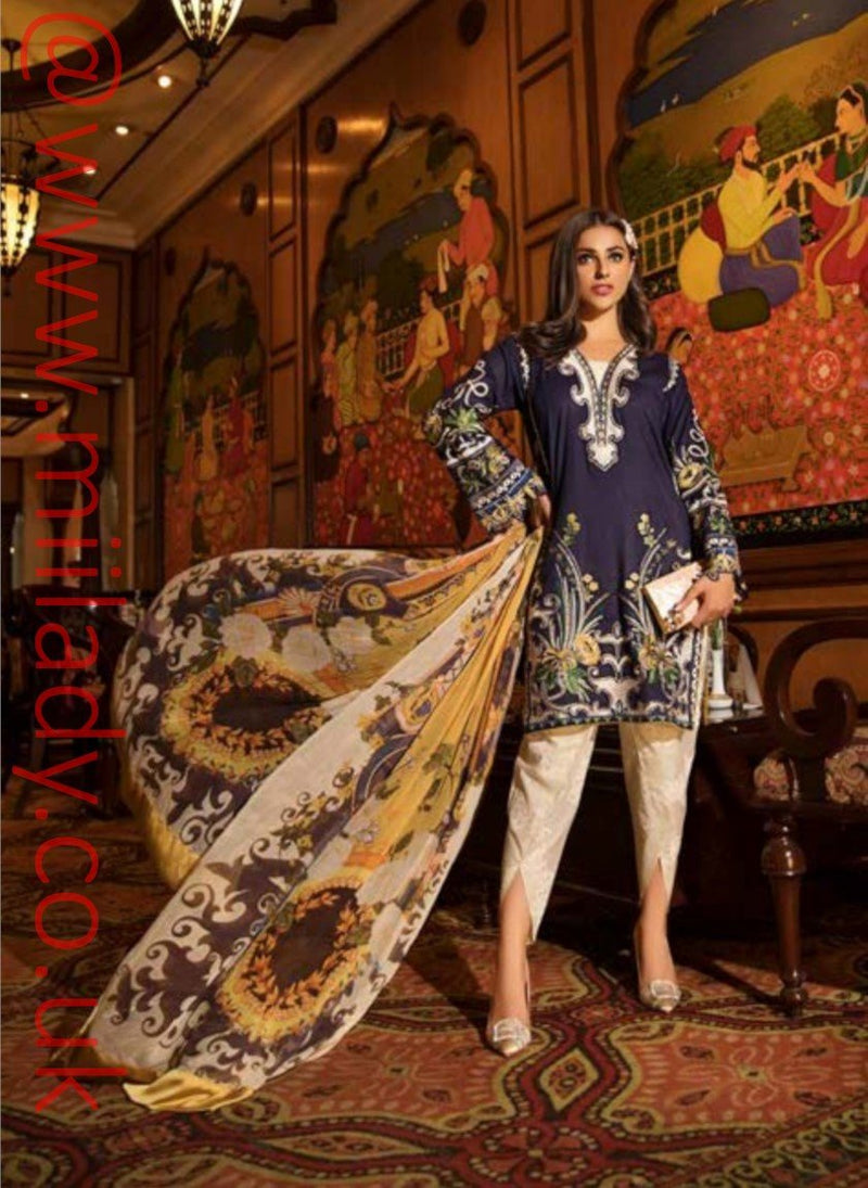Eshaisha Luxury Lawn Embroidered Eid 2019 suit EA-526